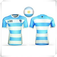 argentina football teams - With Logo name AIG Super RWC ARGENTINA NATIONAL Rugby jersey football shirt teams Sport Wholse Hot sale