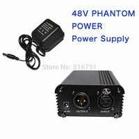 ac condenser - Professional Channel V AC Phantom Power Supply with Adapter for Any Condenser Microphone