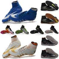 army tan boots - OriGInal new mens High Ankle football Boots HyperVENom FG PhaNTom II Soccer shoes ACC SuPERfly IC TF NeyMar X HyperVENomX soccer cleats