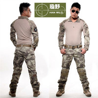 Wholesale Army military tactical cargo pants uniform waterproof camouflage tactical military bdu combat uniform us army men clothing set