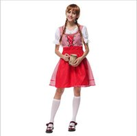 beer germany - 2016 Germany Beer Festival Maid Costume Grid Sexy Cosplay Halloween Uniform Temptation Traditional Bavarian National Clothing Hot Selling