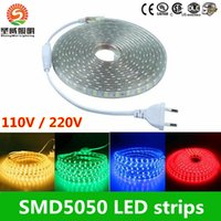 advertisement delivery - 100m DHL Delivery V V V Outdoor Waterproof IP68 White WW Yellow RGB LED Strip W Strips Light With Power Plug