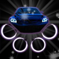 Wholesale 4 SET CCFL ANGEL EYES HALO RINGS KIT HEADLIGHTS WHITE BLUE RED FOR MAZDA HOT SALE