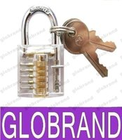 mini padlock - Locksmith Tools MINI Transparent Crystal Practice Lock Set Professional Locksmith Supplies Padlock GLO362