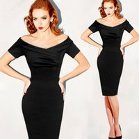 Wholesale Women Dress European and American Slim Strapless Dress off shoulder vintage Sexy Party Evening Pencil Dresses
