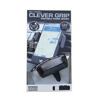 Wholesale Bell Howell Clever Grip MAX Portable Phone Mount for most Smartphones Car Holder for Smart Phones by DHL
