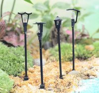 antique gardening - New Arrive Mini street lamp fairy garden miniatures gnome moss terrariums desktop bottle garden resin crafts decoration