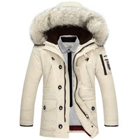 australian wool clothing - Fall M XL New Arrive Winter Factory Sale Directly Men Thickening Outerwear Australian Wool Collar Men s Clothing Men Down Jacket