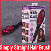 Wholesale Simply Straight artifact Hair Straightene ceramic electric degital control antiscaled hair straightener brush comb with lcd display Hot