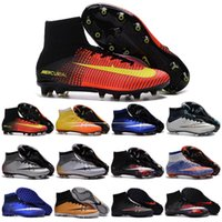 baseball turf - Cheap Kids High Ankle soccer cleats Children Boys CR7 Superfly FG TURF Football Boots Mens women Outdoor indoor Soccer shoes size