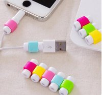 Wholesale USB Lightning Data Charger Cable Silicone Saver Protector Headset Protection Earphone Wire Cord Protective For iPhone S S Plus SE