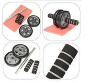 Wholesale Abdominal Exercise Roller Dual Wheel Fitness Body Gym Strength Training Machine