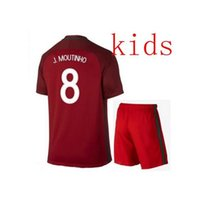 Wholesale 2016 Hot Sale KIDS KITS Portugal top thai quality survetement football primary home away soccer jerseys maillot