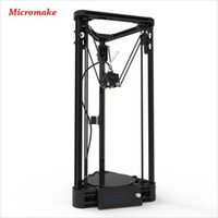 auto printers - 2016 Micromake D Printer Pulley Version Linear Guide DIY Kit Kossel Delta Auto Leveling Large Printing Size D Metal Printer