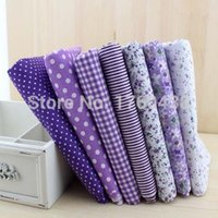 Wholesale 7pcs purple Cotton Tilda Doll Baby fabric Cloth Textiles Fabric cloth for DIY Sewing Patchwork cm