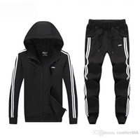 Wholesale 2016 spring and autumn men and women sport suit adult early morning runs cotton blend lover s tracksuits adult clothing coat and pant