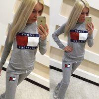 Wholesale brand women s tracksuits sport suit sweatshirt piece sets moletom hoodies svitshot women jogging suits