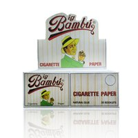 Wholesale BIG BAMBU booklets High Quality Cigarette Rolling Papers mm mm Smoking Papers