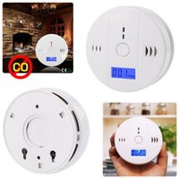 Wholesale CO Carbon Monoxide Poisoning Smoke Gas Sensor Warning Alarm Detector Tester LCD Factory Supply Retail Box