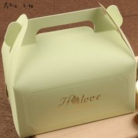 bakery wedding cakes - 16 CM Colors Gold Printing Cake Paper Box for Bakery Food Packaging Wedding Gift cases