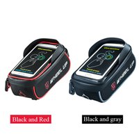 Wholesale Rainproof Bicycle Front Tube Frame Bag MTB Bike Touchscreen Phone Bags Waterproof GPS Pouch Cycling Accessories