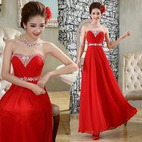 Wholesale Women s Small Sexy Dress Fashionable Strapless Wedding Dress With Big Red Diamonds B
