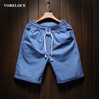 Wholesale Men s pure color beach shorts contracted summer leisure men s leisure furniture high quality cotton shorts color