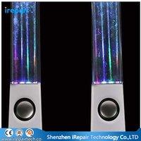Mode danse eau haut-parleur Colorful Music Audio Active Portable Mini USB LED Light Speaker pour téléphone cellulaire PC MP3 4 PSP