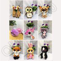 Wholesale 600pcs CCA3831 High Quality cm Ty Beanie Boos Plush Doll Cartoon Stuffed Toys Big Eyes Animals Soft Dolls For Kids Birthday Gifts Ty Toys