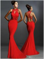 Wholesale New Women s Sexy Lace Appliques Bodycon Mermaid Maxi Long Dress Backless Formal Ball Gown Party Evening Trumpet Dress Vestidos De Fiesta