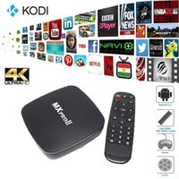 Wholesale New S905 MXproII Android TV Box Android DDR3 GB Nand Flash GB Support Dual Wifi Bluetooth V4 p Smart Media Player