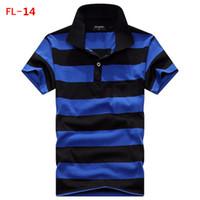 Wholesale 2016 Summer tshirt For Mens Casual Men s Sport t shirts plus size Fashion stripe T Shirt Men PL