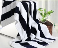 beach hair products - 2016 new product cm Striped cotton towel suction antibacterial towel bath towel soft cotton beach towel