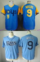baby baseball shirts - New Stitched Baseball Jersey Tampa Bay Rays Wil Myers Baby Blue Turn Back The Clock Men s Sports Shirts Cheap Sale