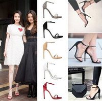 vogue wedding dress - New arrived Vogue Color Summer women T stage Classic Dancing High Heel Sandals Sexy Stiletto Party wedding shoes