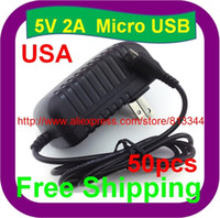 Wholesale 50 V A Micro USB For HP TouchPad Tablet Premium Wall Home House AC Charger Adapter Micro USB PSU DC Adapter
