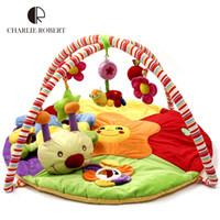 baby toys gym - Educational Baby Toy Baby Play Mat Plush Game Tapete Year Tapete Infantil Crawling Mat Music Play Gym Blanket Carpet HK869
