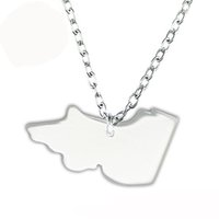 australian made gifts - 12pcs Victoria DIY Australian Map Stainless Steel Pendant Three Color Plated Necklace For Jewelry Making A127954