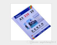 Wholesale A3 mm g Sheets High Gloss Photo Paper Waterproof Paper Photo Paper Inkjet For a variety of inkjet printers
