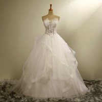 Wholesale The new bride wedding Bra perspective lace skirt was thin veil wedding dress high