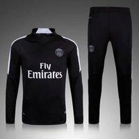 Wholesale New PSG training clothes sweater coat long sleeved Set autumn winter sport Soccer Jerseys Paris Slim trousers Soccer Uniforms original