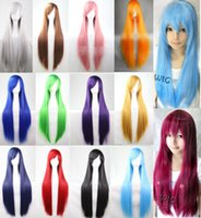 Wholesale Hot Sexy cm Long Straight Wig Fashion Cosplay Costume Anime Hair Full Wig Hair