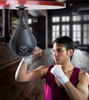 Wholesale Punching Boxing Speed Ball Punch Bag Equipment Exercise Body Building Fitness Leather SpeedBalls Training Ball Sports Supplies Black TK1332