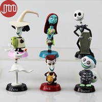 action moves - New Jack Skellington Toy Nightmare Before Christmas Tim Burton Barrel Moving Action Figure Playset Car Decoration Kid Gift