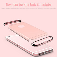 apples spray - Iphone6Plus electroplate TPU iPhone shell in simple spray leather tide card luxurious protective shell