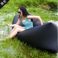 banana uses - 0 kg Portable inflatable sleeping bag camping inflatble sofa bed outdoor beach inflatable air hangout hiking use banana sleeping bag
