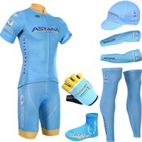 astana cycling - BLUE ASTANA Team cycling jersey quick dry breathable cycling shirts bike shorts set gel pad cycle Maillot Culotte full set