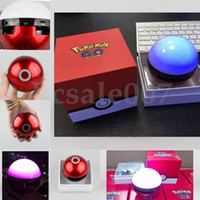 balls dance - Poke Mon Bluetooth Speaker Colorful Night Light LED Dance Magic Pokeball Elves Ball Wireless Stereo Music TF card MP3 Subwoofer