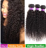 Wholesale 7A Brazilian Kinky Curly Weave g bundle Unprocessed Human Hair Cheap Hair Extension Bundles Full Head