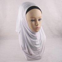 amira hijab - Jersey instant shawl hijab slip on shawls plain amira hijabs cotton jersey scarf C54